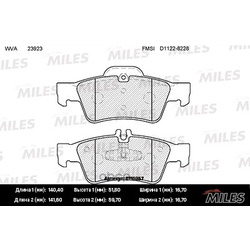 Колодки тормозные MERCEDES-BENZ W164 ML 05 /W251 R-CLASS 06 задние (Miles) E110257