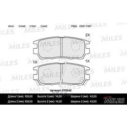 Колодки тормозные MITSUBISHI PAJERO I/PAJERO II 3.0/3.5/2.5TD/L400 94 03 задние (Miles) E110242