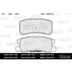 Колодки тормозные PEUGEOT 4007/MITSUBISHI PAJERO III/OUTLANDER 06 задние (Miles) E110184