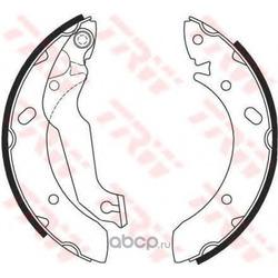 Колодки тормозные барабанные задн HYUNDAI: ELANTRA 1.6I 00 (PATRON) PSP607