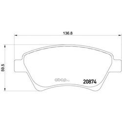 Колодки тормозные дисковые TEXTAR (Textar) 2393001