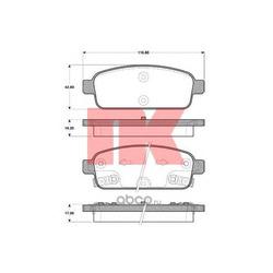 Колодки тормозные дисковые задние / CHEVROLET Cruze,OPEL Astra-J,Zafira-C 09 (Nk) 223647
