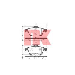Колодки тормозные дисковые задние / FORD Focus C-MAX 1.6-2.0; Focus-II; MAZDA-3/5:OPEL Vectra-C,Signum:VOLVO C30/S40/V50 (без датчиков) 10/03 (Nk) 222562