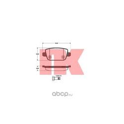 Колодки тормозные дисковые задние / FORD Kuga,S-Max,Galaxy,Mondeo-IV;VOLVO S80,V70,XC70 2006 (Nk) 222567