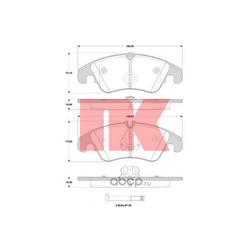 Колодки тормозные дисковые передние / AUDI Q5, A-4, A-5 08 (Nk) 224797