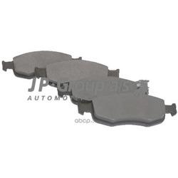 Колодки тормозные дисковые передние / FORD Fiesta, Fusion, Puma, Street Ka 1,3-1,8 2000 (без датчиков) (JP Group) 1563600310