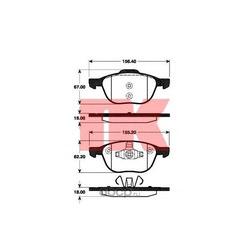 Колодки тормозные дисковые передние / FORD Focus C-MAX 1.6-2.0; Focus-II; MAZDA-3/5,VOLVO C30/S40/V50 (без датчиков) 10/03 (Nk) 222561
