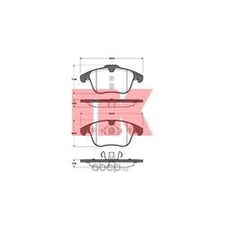 Колодки тормозные дисковые передние / FORD Galaxy,S-Max,Mondeo-IV ; VOLVO V70,S80,XC70 2006 (Nk) 222568