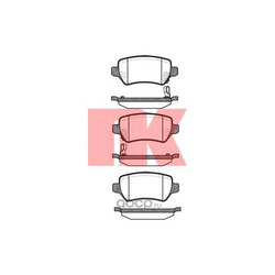 К-т торм колодок (диск) задних / OPEL Astra-G/H,Corsa-C, Meriva, Zafira-A/B (с датчиком) 06/01 (Nk) 223625