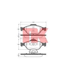 К-т торм колодок передних / FORD Fiesta-IV/V, Fusion, Puma, Street Ka ;MAZDA 2 (без датчиков) 02/00 (Nk) 222557