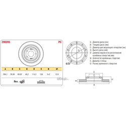 Тормозной диск HYUNDAI SANTA FE 06 перед.вент. (ASP) 290205
