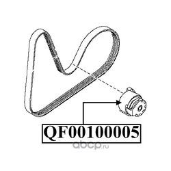 Ролик натяжителя приводного ремня (QUATTRO FRENI) QF00100005