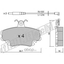Колодки тормозные дисковые передние (fri.tech.) 1220W