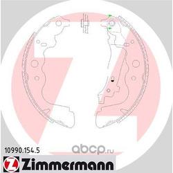 Комплект тормозных колодок (Zimmermann) 109901545