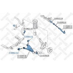 Сайлентблок пер. рычага (Stellox) 7700862SX