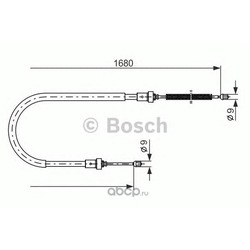 Трос стояночного тормоза 05 (Bosch) 1987477955