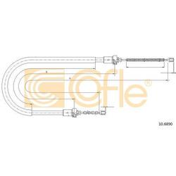 Трос стояночного тормоза заднего правлев (Cofle) 106890