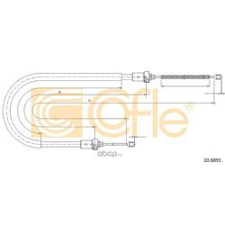 Трос стояночного тормоза задн барабанные тормоза 04 (Cofle) 106891