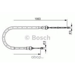 Трос ручного тормоза (Bosch) 1987482233