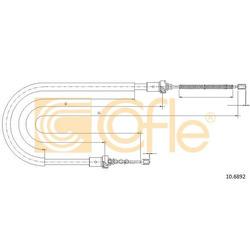 Трос стояночного тормоза задн 1,5 барабанные тормоза 08 (Cofle) 106892