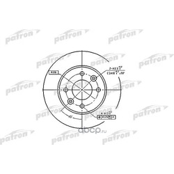 Диск тормозной (PATRON) PBD1013