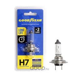 Лампа автомобильная галогенная блистер (GOODYEAR) GY017123
