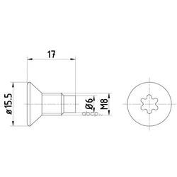 Болт крепления тормозного диска комплект шт (Textar) TPM0004