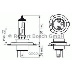 Лампа h4 12v (Bosch) 1987302045