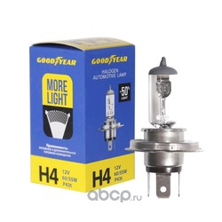 Лампа автомобильная галогенная света (GOODYEAR) GY014124