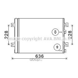 Радиатор кондиционера (Ava) RTA5467D