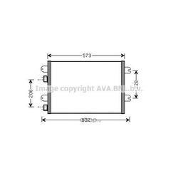 Радиатор кондиционера (Ava) RTA5317