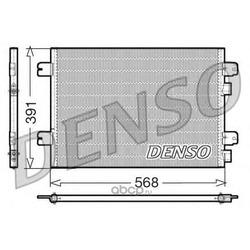 Радиатор кондиционера (Denso) DCN23011