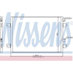 Радиатор кондиционера пикап (Nissens) 94673