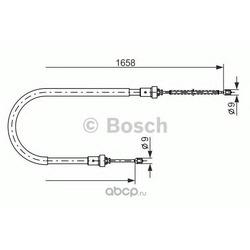 Трос ручн тормоза универсал (Bosch) 1987482234