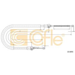 Трос стояночного тормоза зад (Cofle) 106893