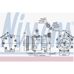 Компрессор кондиционера (Nissens) 89164