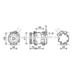 Компрессор кондиционера (Ava) RTAK479