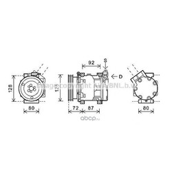 Компрессор кондиционера (Ava) RTK479