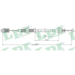 Тросик газа (Lpr) C0131A