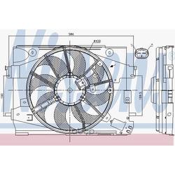 Вентилятор охлаждение двигателя (Nissens) 85892