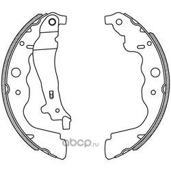 Комплект тормозных колодок (OPEN PARTS) BSA222900