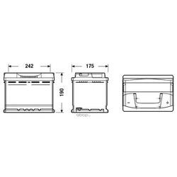 Батарея аккумуляторная 62а/ч 540а 12в обратная полярн. стандартные клеммы (TUDOR) TB620