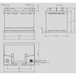 Стартерная аккумуляторная батарея (OPEN PARTS) MB060L200