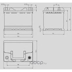 Стартерная аккумуляторная батарея (OPEN PARTS) MB062L200
