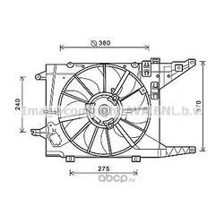 Вентилятор охлаждение двигателя (Prasco) RT7550