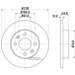 Тормозной диск (DON) PCD11292