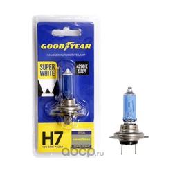Лампа автомобильная галогенная goodyear н7 12v 55w px26d (GOODYEAR) GY017127