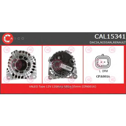 Генератор (CASCO) CAL15341GS
