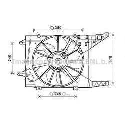 Вентилятор, охлаждение двигателя (Prasco) RT7549