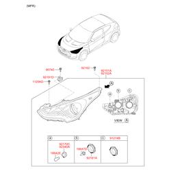 Болт с шестигранной головкой (Hyundai-KIA) 921621C000